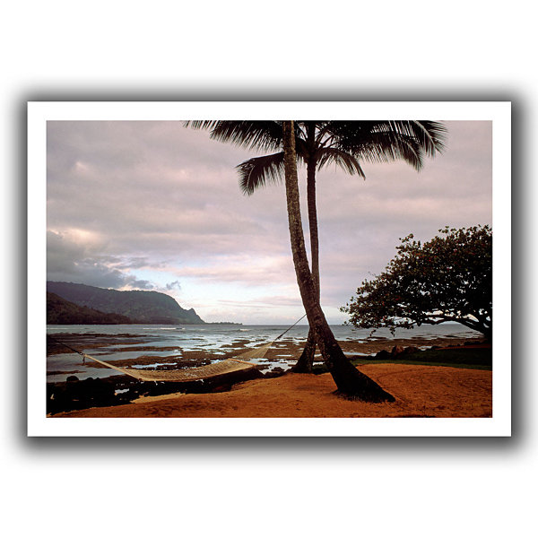 Brushstone Hanalei Bay Hammock At Dawn Canvas WallArt