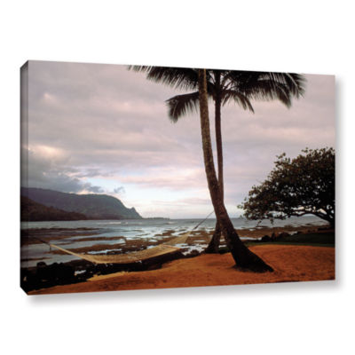 Brushstone Hanalei Bay Hammock At Dawn Gallery Wrapped Canvas Wall Art