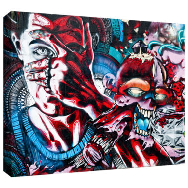 Brushstone Grafit 26-3!!! Gallery Wrapped Canvas Wall Art
