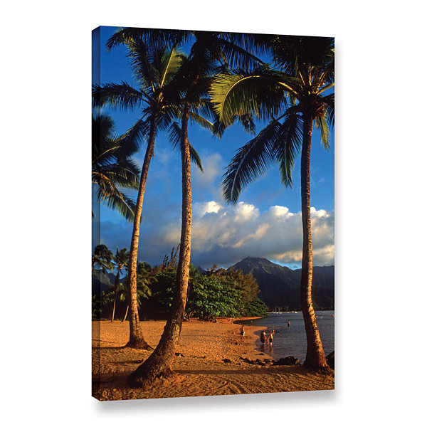 Brushstone Hanalei Bay Palms Gallery Wrapped Canvas Wall Art