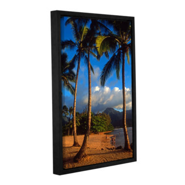 Brushstone Hanalei Bay Palms Gallery Wrapped Floater-Framed Canvas Wall Art
