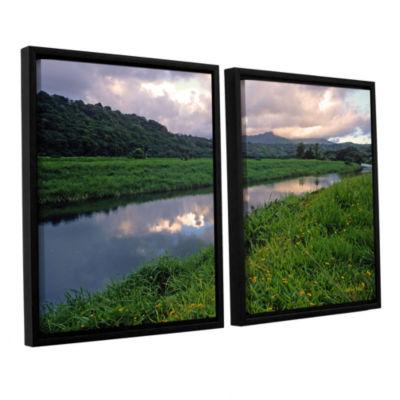 Brushstone Hanalei River Reflections 2-pc. FloaterFramed Canvas Wall Art
