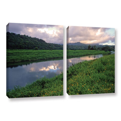 Brushstone Hanalei River Reflections 2-pc. GalleryWrapped Canvas Wall Art