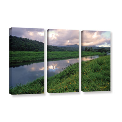 Brushstone Hanalei River Reflections 3-pc. GalleryWrapped Canvas Wall Art