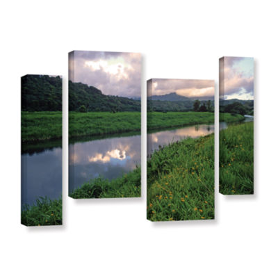 Brushstone Hanalei River Reflections 4-pc. GalleryWrapped Staggered Canvas Wall Art