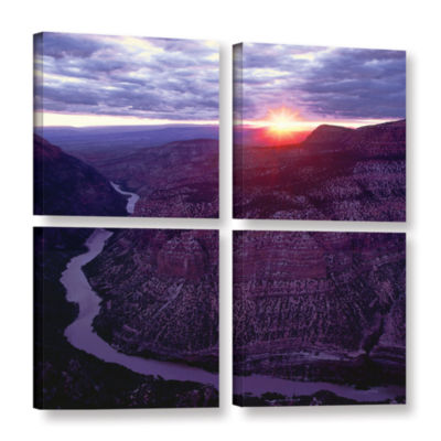 Brushstone Green River Dinosaur 4-pc. Square Gallery Wrapped Canvas Wall Art