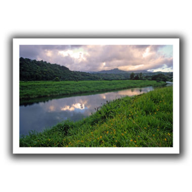 Brushstone Hanalei River Reflections Canvas Wall Art
