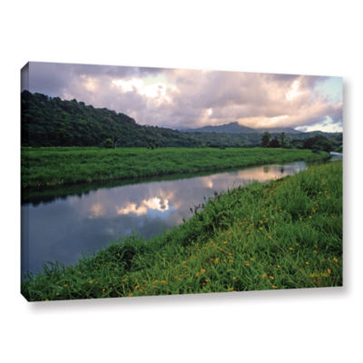 Brushstone Hanalei River Reflections Gallery Wrapped Canvas Wall Art