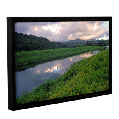 Brushstone Hanalei River Reflections Gallery Wrapped Floater-Framed Canvas Wall Art