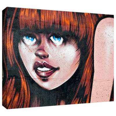 Brushstone Grafit 45 Gallery Wrapped Canvas Wall Art