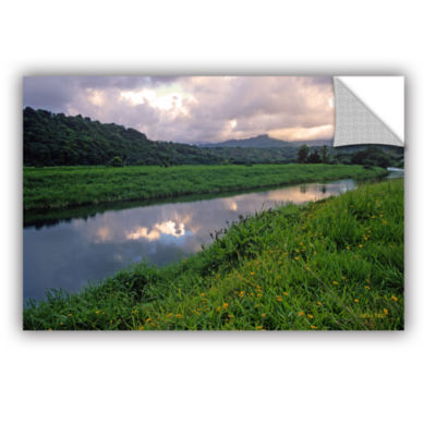 Brushstone Hanalei River Reflections Removable Wall Decal