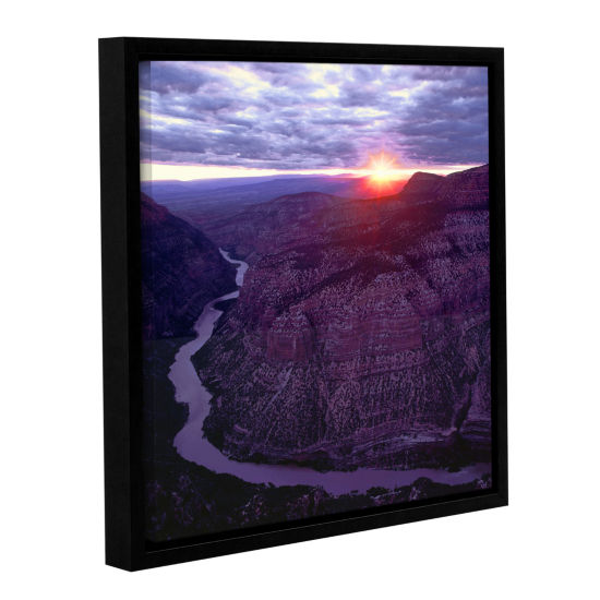 Brushstone Green River Dinosaur Gallery Wrapped Floater-Framed Canvas Wall Art