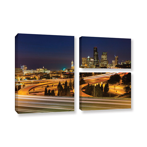 Brushstone Highway To Seattle 2 3-pc. Flag GalleryWrapped Canvas Wall Art