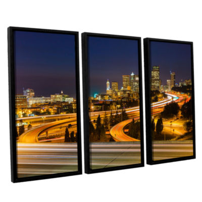 Brushstone Highway To Seattle 2 3-pc. Floater Framed Canvas Wall Art
