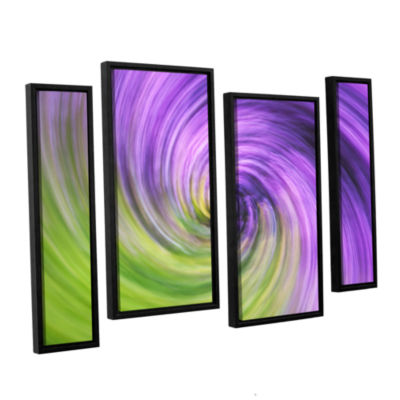 Brushstone Heather Spiral 4-pc. Floater Framed Staggered Canvas Wall Art