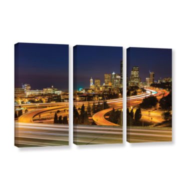 Brushstone Highway To Seattle 2 3-pc. Gallery Wrapped Canvas Wall Art