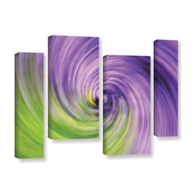 Brushstone Heather Spiral 4-pc. Gallery Wrapped Staggered Canvas Wall Art