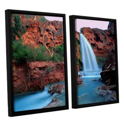 Brushstone Havasu Falls Dusk (135) 2-pc. Floater Framed Canvas Wall Art
