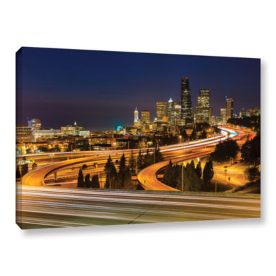 Brushstone Highway To Seattle 2 Gallery Wrapped Canvas Wall Art