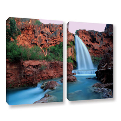 Brushstone Havasu Falls Dusk (135) 2-pc. Gallery Wrapped Canvas Wall Art