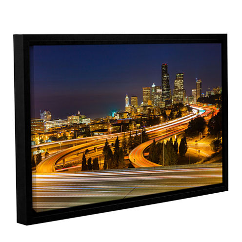 Brushstone Highway To Seattle 2 Gallery Wrapped Floater-Framed Canvas Wall Art