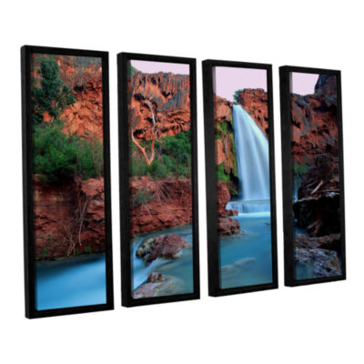 Brushstone Havasu Falls Dusk (135) 4-pc. Floater Framed Canvas Wall Art