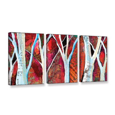 Brushstone Hidden Forest 3-pc. Gallery Wrapped Canvas Wall Art
