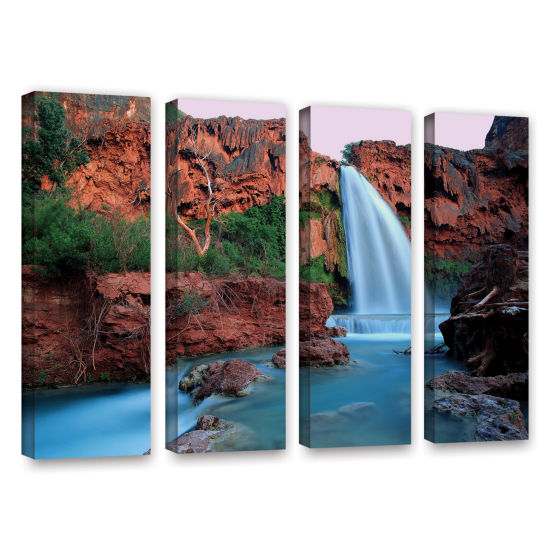 Brushstone Havasu Falls Dusk (135) 4-pc. Gallery Wrapped Canvas Wall Art