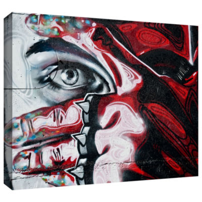 Brushstone Grafit 48 Gallery Wrapped Canvas Wall Art