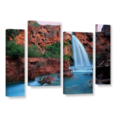 Brushstone Havasu Falls Dusk (135) 4-pc. Gallery Wrapped Staggered Canvas Wall Art