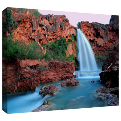 Brushstone Havasu Falls Dusk (135) Gallery WrappedCanvas Wall Art