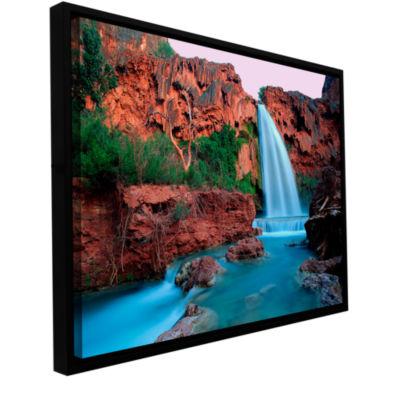 Brushstone Havasu Falls Dusk (135) Gallery WrappedFloater-Framed Canvas Wall Art