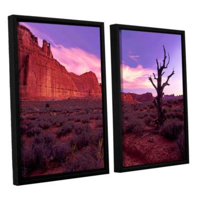 Brushstone High Desert Dawn (Vista) 2-pc. FloaterFramed Canvas Wall Art
