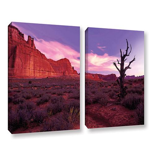 Brushstone High Desert Dawn (Vista) 2-pc. GalleryWrapped Canvas Wall Art