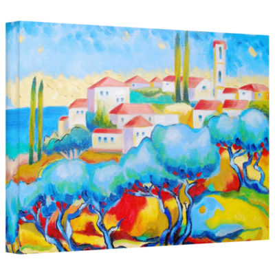 Brushstone Greece By The Sea Gallery Wrapped Canvas Wall Art
