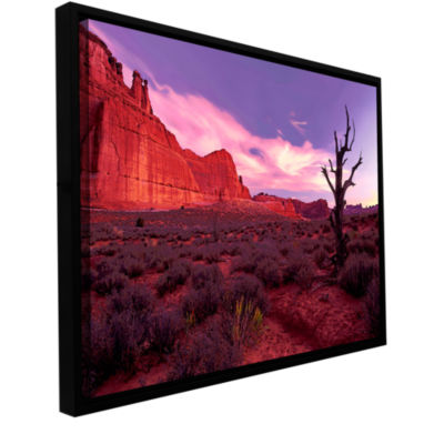 Brushstone High Desert Dawn (Barren Tree) GalleryWrapped Floater-Framed Canvas Wall Art