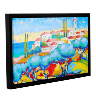 Brushstone Greece By The Sea Gallery Wrapped Floater-Framed Canvas Wall Art