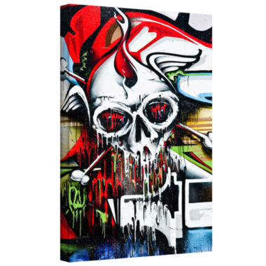 Brushstone Grafit 56 Gallery Wrapped Canvas Wall Art