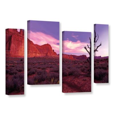 Brushstone High Desert Dawn (Vista) 4-pc. GalleryWrapped Staggered Canvas Wall Art