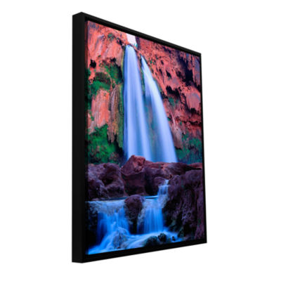 Brushstone Havasu Falls Dusk (212) Gallery WrappedFloater-Framed Canvas Wall Art