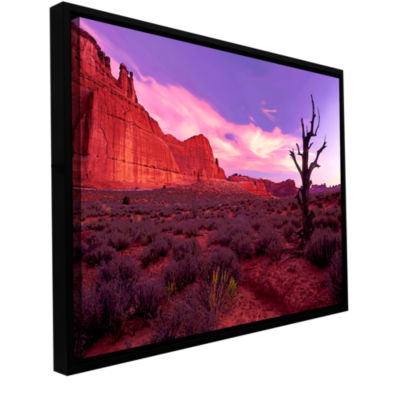 Brushstone High Desert Dawn (Vista) Gallery Wrapped Floater-Framed Canvas Wall Art