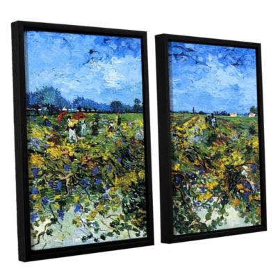 Brushstone Green Vineyard 2-pc. Floater Framed Canvas Wall Art