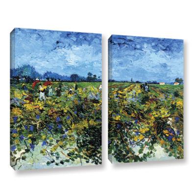 Brushstone Green Vineyard 2-pc. Gallery Wrapped Canvas Wall Art