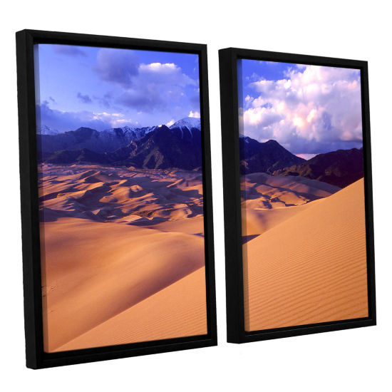 Brushstone Great Sand Dunes 2-pc. Floater Framed Canvas Wall Art