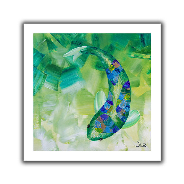Brushstone Greenkoi Canvas Wall Art