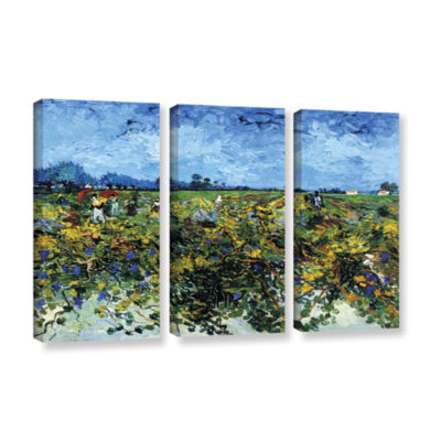 Brushstone Green Vineyard 3-pc. Gallery Wrapped Canvas Wall Art