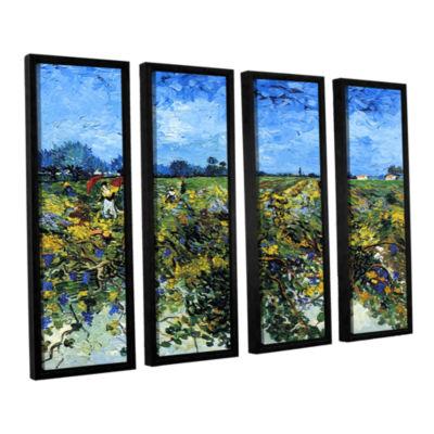 Brushstone Green Vineyard 4-pc. Floater Framed Canvas Wall Art