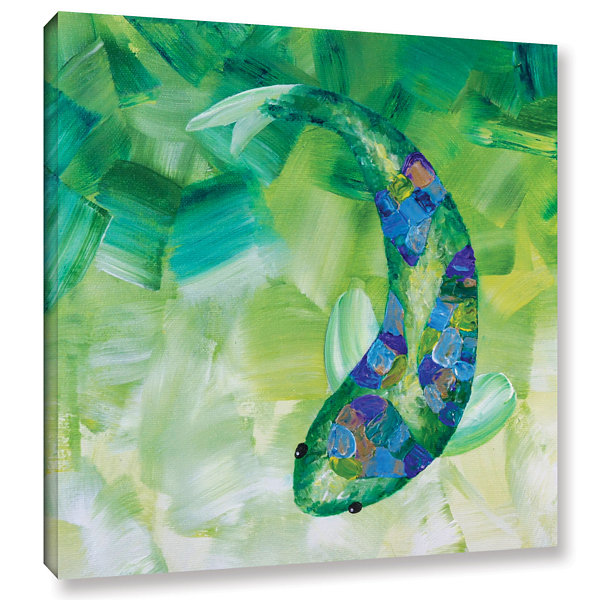 Brushstone Greenkoi Gallery Wrapped Canvas Wall Art