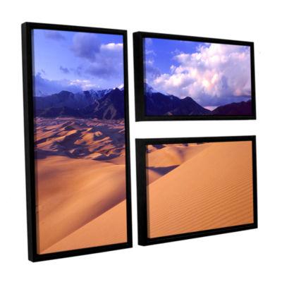 Brushstone Great Sand Dunes 3-pc. Flag Floater Framed Canvas Wall Art