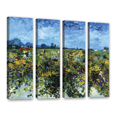 Brushstone Green Vineyard 4-pc. Gallery Wrapped Canvas Wall Art